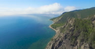 Baikal lake, Sennaya pad'. Aerial view, 4K. Stock Footage