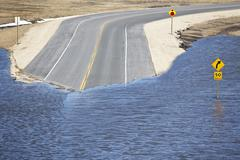 Flooding of the Red River on Highway 44, Red River Valley, north of Winnipeg, Kuvituskuvat