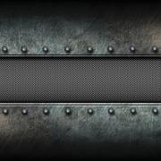 Grunge metal background and mesh. 3d illustration. Stock Illustration