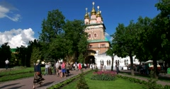 The Church of the Nativity of St. John the Baptist, the area of the  Lavra Stock Footage