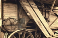Side of Old Threshing Machine Stock Footage