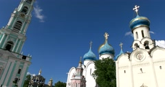 The best monument of Russian Architecture - complex of the Trinity-Sergius Lavra Stock Footage