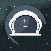 Digital vector with astronaut helmet icon Stock Illustration