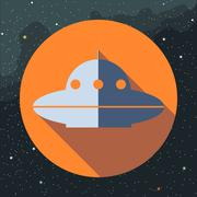 Digital vector with space ufo alien ship Piirros