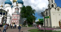 The unique architectural ensemble of the largest Orthodox monastery Stock Footage