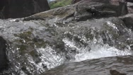 River Small Waterfall Closer Look Nature Scenery Footage Stock Footage