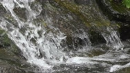 Waterfall Water Falls on Big Rocks Nature Footage Stock Footage