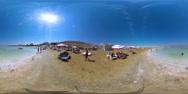 Dead Sea beach 360 vr Stock Footage