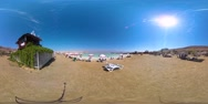 360 vr  of  Dead Sea beach Stock Footage