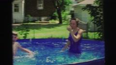 1974: giant bath party LYNBROOK, NEW YORK Stock Footage