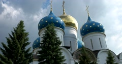 Largescale domes of the assumption Cathedral, architecture in late Baroque style Stock Footage
