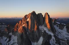 Howser Spire, aerial view, Bugaboo Provincial Park, BC, Canada Stock Photos