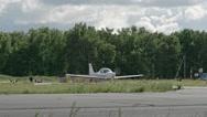 Plane Ready to Takeoff Stock Footage