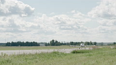 Small Aircraft Takeoff Stock Footage