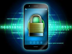 Secure smartphone Stock Illustration