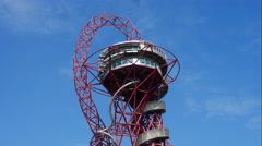 Orbit Tower Time Lapse Queen Elizabeth Olympic Park Stratford 4K Stock Footage