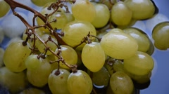 Green grapes Stock Footage