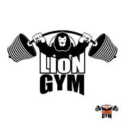 Lion Gym Logo. Angry leo strong athlete. Barbell and Aggressive big beast. Ev Stock Illustration