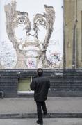 Street Art, near Brick Lane, Shoreditch, East London, England Stock Photos