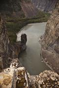 The Pulpit' rock formation, Nahanni National Park Preserve, NWT, Canada. Stock Photos