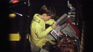 1974: christmas morning! LYNBROOK, NEW YORK Stock Footage
