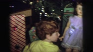 1974: christmas morning in the 1970s with two boys unwrapping presents LYNBROOK, Stock Footage