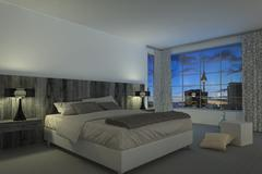 Modern bedroom - hotel room Stock Illustration