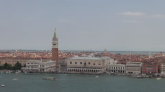 Canal Grande from top of San Giorgio Maggiore, aerial Stock Footage