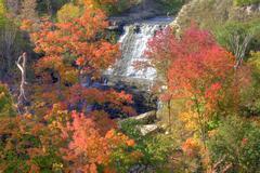 Albion Falls, Autumn Niagara Escarpment Ontario Canada Stock Photos
