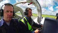 Student Pilot Takeoff Practice Stock Footage