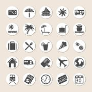 Set Of Holiday Icons Stock Illustration