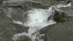 Amazing Waterfall Water Falls on Big Rocks From Mountains Nature Footage Stock Footage