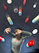Drugs attack Stock Illustration