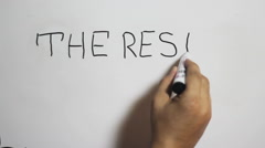 """Hand writing a """"The rest of my life"""" message on a white board Stock Footage"""