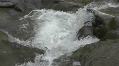 Beautiful Waterfall Water Falls on Big Rocks From Hills Nature Footage Stock Footage