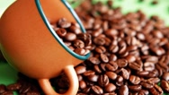 Coffee beans in bulk Stock Footage