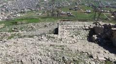 Mt Gerizim - Hellenistic period walls (Israel aerial footage) Stock Footage