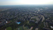 Aerial view of Bucharest, Moghioros park, Romania Stock Footage