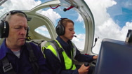 Student Pilot Learning to Fly Stock Footage