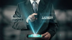 Persistent Success Concept Businessman using digital tablet technology Stock Footage