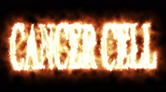 Cancer cell in fire Stock Footage