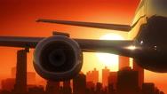 Atlanta Georgia USA America Skyline Sunrise Landing Stock Footage