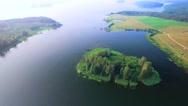 Small island in lake Stock Footage