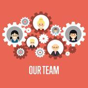 Our team banner. Teamwork concept. Stock Illustration