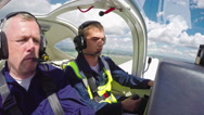 Student Pilot Confidently Flying Plane Stock Footage