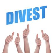 Crowd supporting Divestment Stock Photos