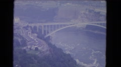 1964: locations most beautiful se see and know how cities develops NIAGRA FALLS, Stock Footage