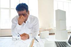 Overworked engineer Stock Photos