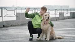 Selfie with Best Friend Stock Footage