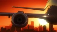 Buffalo New York USA America Skyline Sunrise Take Off Stock Footage